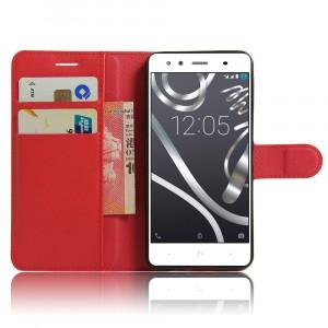 Чехол портмоне подставка на силиконовой основе на магнитной защелке для BQ Aquaris X5 Plus Красный