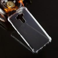 Силиконовый матовый транспарентный чехол с усиленными углами для Asus ZenFone 3 Laser