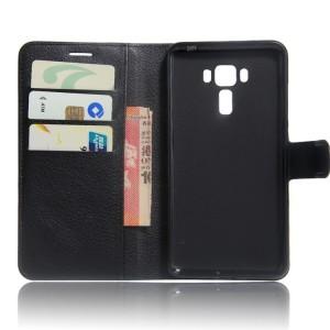 Чехол портмоне подставка на силиконовой основе на магнитной защелке для Asus ZenFone 3 Laser Черный
