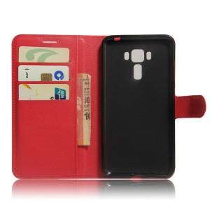 Чехол портмоне подставка на силиконовой основе на магнитной защелке для Asus ZenFone 3 Laser Красный