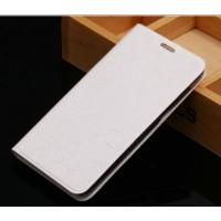 Чехол горизонтальная книжка подставка текстура Соты на силиконовой основе для Asus ZenFone 3 Laser  Белый