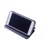 Чехол горизонтальная книжка подставка текстура Соты на силиконовой основе для Asus ZenFone 3 Laser