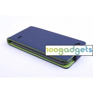 Текстурный чехол вертикальная книжка на силиконовой основе на магнитной защелке для ZTE Blade S6