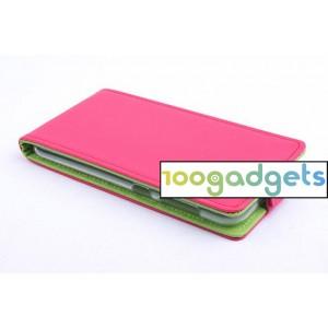 Текстурный чехол вертикальная книжка на силиконовой основе на магнитной защелке для ZTE Blade S6 Розовый