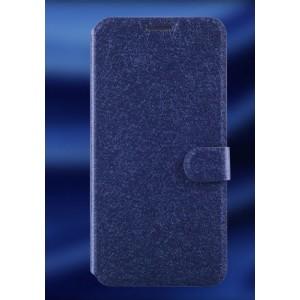 Чехол горизонтальная книжка подставка текстура Золото на силиконовой основе с отсеком для карт на магнитной защелке для ZTE Blade S6 Синий