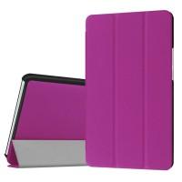 Сегментарный чехол книжка подставка на непрозрачной поликарбонатной основе для Huawei MediaPad M3 Фиолетовый