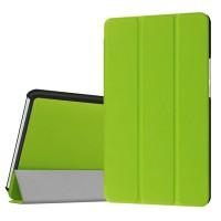 Сегментарный чехол книжка подставка на непрозрачной поликарбонатной основе для Huawei MediaPad M3 Зеленый