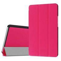 Сегментарный чехол книжка подставка на непрозрачной поликарбонатной основе для Huawei MediaPad M3 Пурпурный