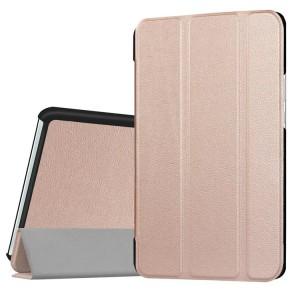 Сегментарный чехол книжка подставка на непрозрачной поликарбонатной основе для Huawei MediaPad M3 Бежевый