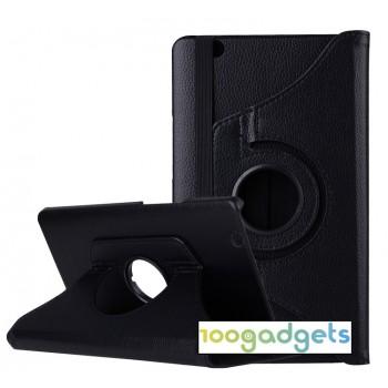 Роторный чехол книжка подставка на непрозрачной поликарбонатной основе для Huawei MediaPad M3