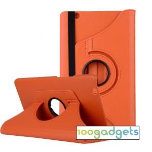 Роторный чехол книжка подставка на непрозрачной поликарбонатной основе для Huawei MediaPad M3  Оранжевый