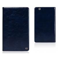 Вощеный чехол книжка подставка на полупрозрачной силиконовой основе для Huawei MediaPad M3 Синий