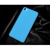Пластиковый непрозрачный матовый чехол для Meizu U10 Голубой