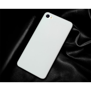 Пластиковый непрозрачный матовый чехол для Meizu U10 Белый