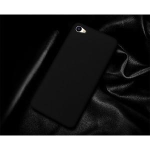 Пластиковый непрозрачный матовый чехол для Meizu U10 Черный