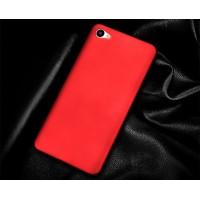 Пластиковый непрозрачный матовый чехол для Meizu U10 Красный