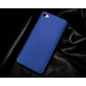 Пластиковый непрозрачный матовый чехол для Meizu U10 Синий