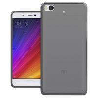 Силиконовый матовый полупрозрачный чехол для Xiaomi Mi5S  Черный