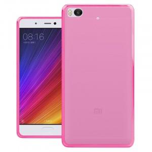 Силиконовый матовый полупрозрачный чехол для Xiaomi Mi5S  Розовый