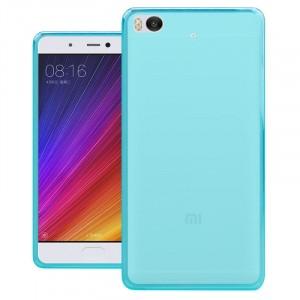 Силиконовый матовый полупрозрачный чехол для Xiaomi Mi5S  Голубой