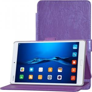 Чехол книжка подставка текстура Узоры на непрозрачной поликарбонатной основе для Huawei MediaPad M3 Фиолетовый