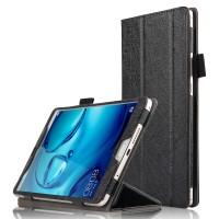 Сегментарный чехол книжка подставка текстура Линии с рамочной защитой экрана и крепежом для стилуса для Huawei MediaPad M3