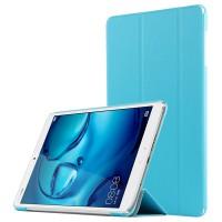 Сегментарный чехол книжка подставка на непрозрачной поликарбонатной основе для Huawei MediaPad M3 Голубой