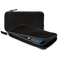 Кожаный мешок (нат. кожа) на молнии со слотами для карт для BlackBerry DTEK50
