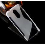 Силиконовый матовый полупрозрачный чехол с дизайнерской текстурой S для ZTE Axon 7 mini