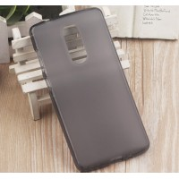 Силиконовый матовый полупрозрачный чехол для ZTE Axon 7 mini  Серый