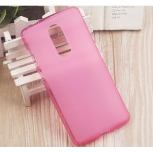 Силиконовый матовый полупрозрачный чехол для ZTE Axon 7 mini Розовый