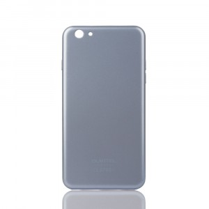 Оригинальный встраиваемый пластиковый непрозрачный матовый чехол для Oukitel U7 Pro  Серый