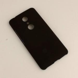 Пластиковый непрозрачный матовый чехол для ZTE Axon 7  Черный