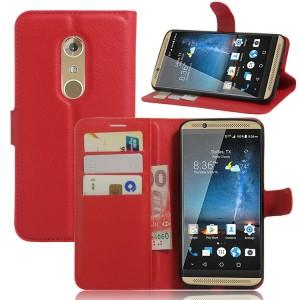 Чехол портмоне подставка на силиконовой основе на магнитной защелке для ZTE Axon 7  Красный
