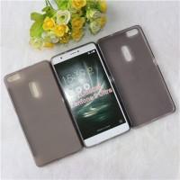 Силиконовый матовый полупрозрачный чехол для Asus ZenFone 3 Ultra  Серый