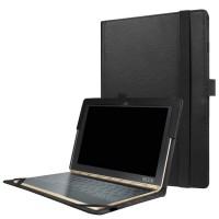 Чехол книжка с рамочной защитой экрана и крепежом для стилуса для Lenovo Yoga Book Черный