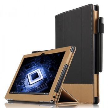 Сегментарный чехол книжка подставка текстура Линии с рамочной защитой экрана и крепежом для стилуса для Lenovo Yoga Book