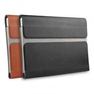 Кожаный мешок папка (премиум нат. кожа) на магнитном клапане для Lenovo Yoga Book
