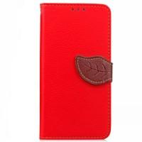 Чехол портмоне подставка на силиконовой основе на дизайнерской магнитной защелке для LG Magna  Красный