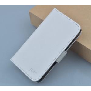 Чехол портмоне подставка на клеевой основе на магнитной защелке для Oukitel U7 Pro  Белый
