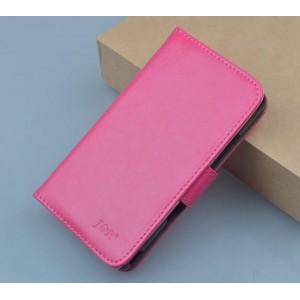 Чехол портмоне подставка на клеевой основе на магнитной защелке для Oukitel U7 Pro  Пурпурный