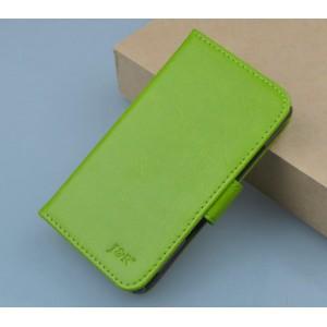 Чехол портмоне подставка на клеевой основе на магнитной защелке для Oukitel U7 Pro  Зеленый