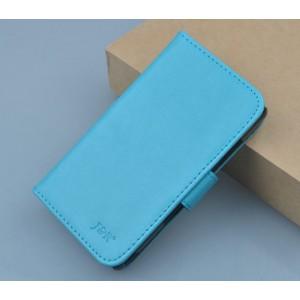 Чехол портмоне подставка на клеевой основе на магнитной защелке для Oukitel U7 Pro  Голубой