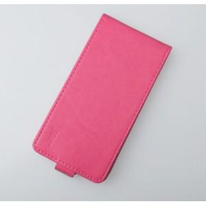 Чехол вертикальная книжка на клеевой основе на магнитной защелке для Oukitel U7 Pro  Пурпурный