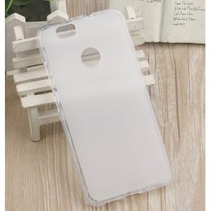 Силиконовый матовый полупрозрачный чехол для Huawei Nova Белый