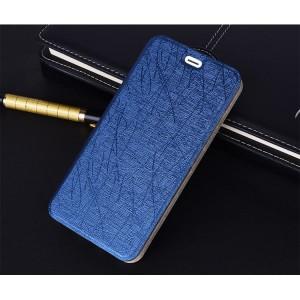 Чехол горизонтальная книжка подставка текстура Линии на силиконовой основе для Huawei Nova Синий