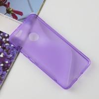 Силиконовый матовый полупрозрачный чехол с дизайнерской текстурой S для Huawei Nova  Фиолетовый