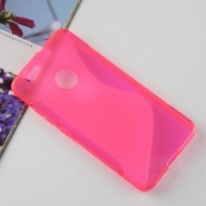 Силиконовый матовый полупрозрачный чехол с дизайнерской текстурой S для Huawei Nova  Розовый
