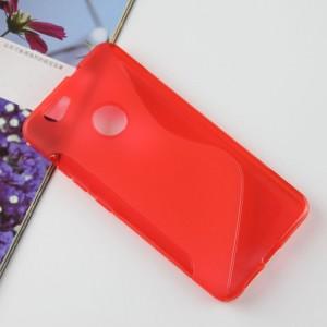 Силиконовый матовый полупрозрачный чехол с дизайнерской текстурой S для Huawei Nova  Красный