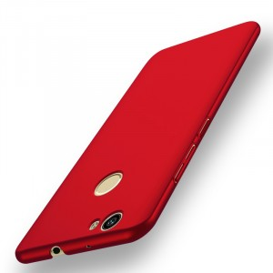 Пластиковый непрозрачный матовый чехол с защитой торцев для Huawei Nova Красный